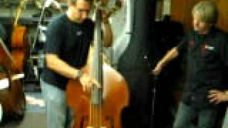 08-13-09 Kevin Axt Playing Milano MB-30 Upright Bass at FMI Bass Shop in Pasadena California