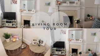 LIVING ROOM TOUR | HOUSE RENOVATIONS | HOME DECOR/INTERIOR IDEAS MAKEOVER HOUSE TOUR WHITE GREY