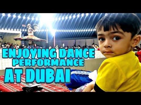 Zayyan Enjoying Dance Performance at Dubai's Desert