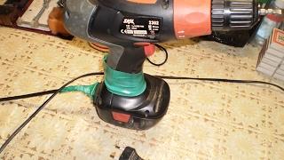 Переделка аккумуляторного шуруповерта на универсальный аккумуляторно   сетевой