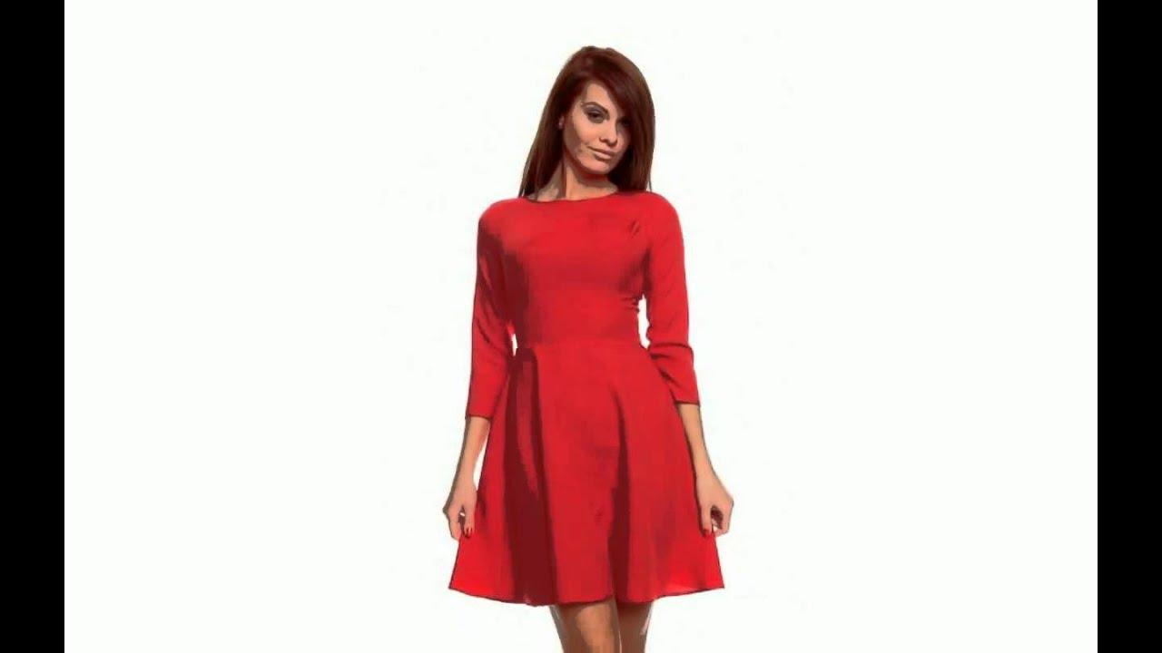 купить красное платье в интернет магазине москва - YouTube