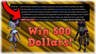How YouCan Win 500 Dollars From This Roblox Contest!