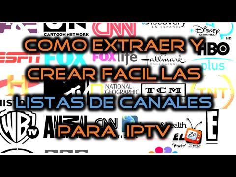 📺 Como crear y extraer las listas de canales .m3u para IPTV TV SATELITAL + 1000 canales 2018