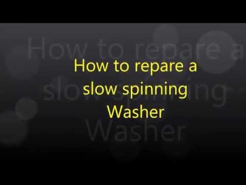 Washing machine slow to spin