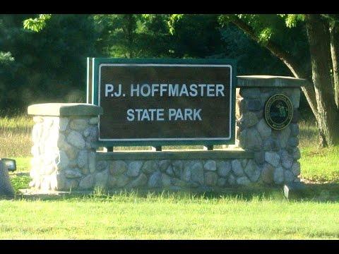 Camping at PJ Hoffmaster State Park, Michigan