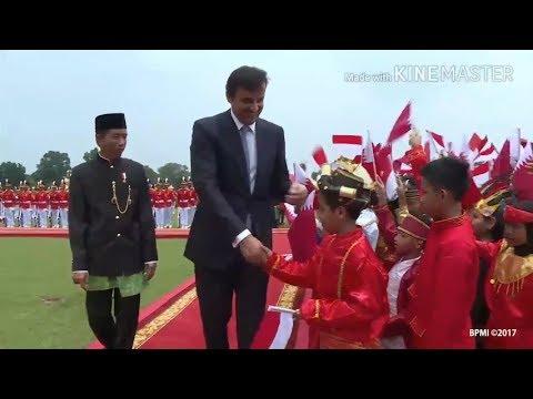 Anak-anak Berbusana Adat Nusantara Sambut Emir Qatar