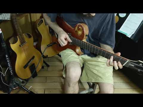 Fan fret experimental guitar clean