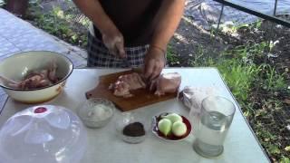 Куриный шашлык с простым маринадом
