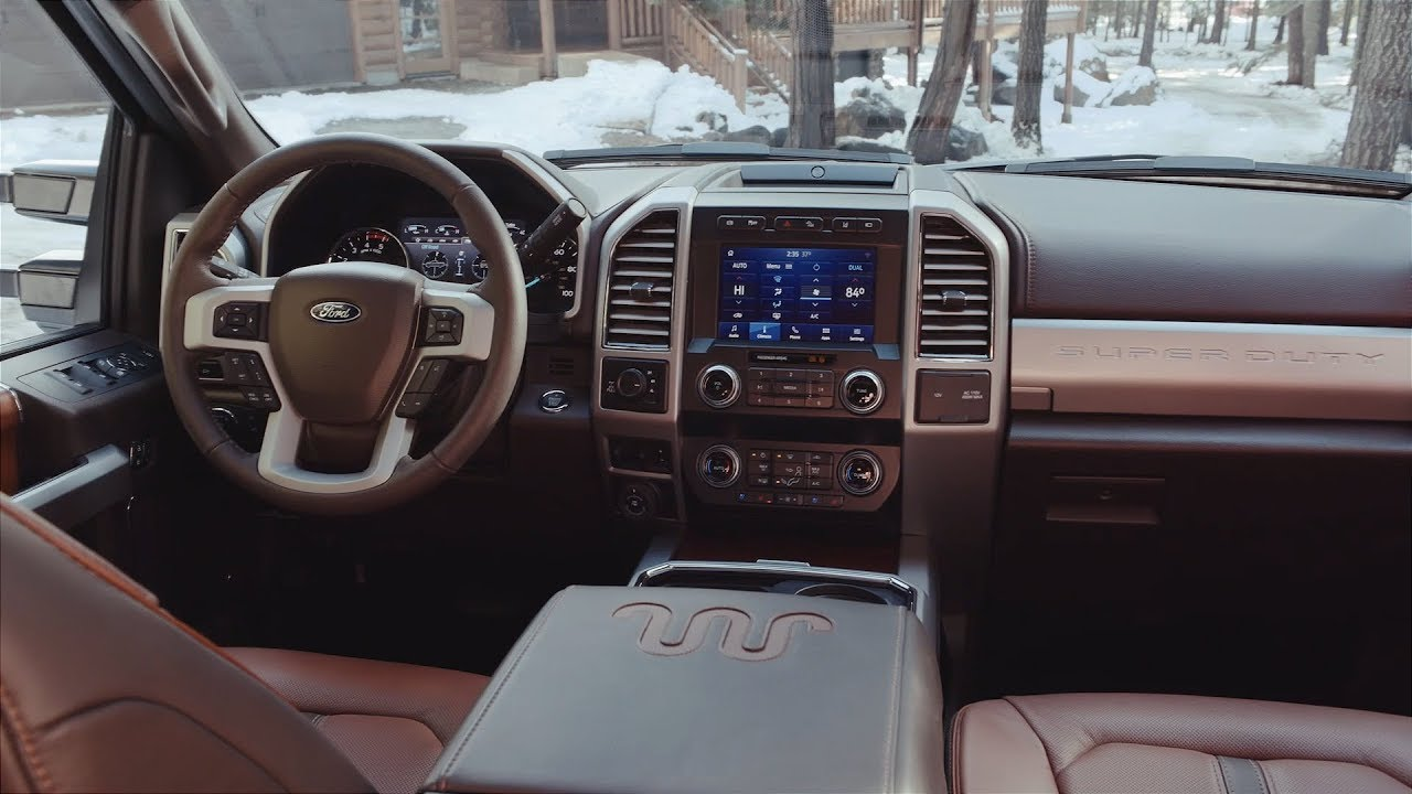 2020 Ford F-250 Super Duty King Ranch Interior - YouTube