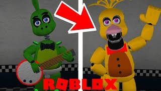 FNAF 7 ANIMATRONICS IN ROBLOX ?! Hew's Arcade And Pizza