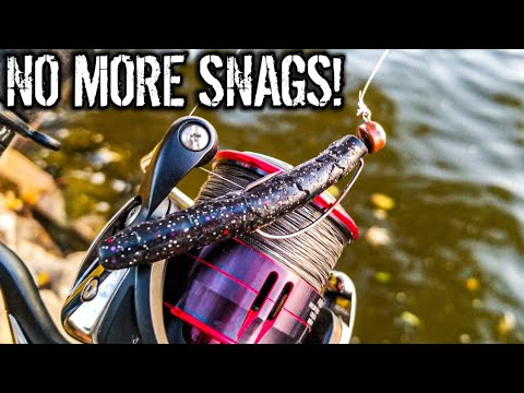 Smallmouth Bass Fishing With A WEEDLESS Ned Rig (River Fishing)