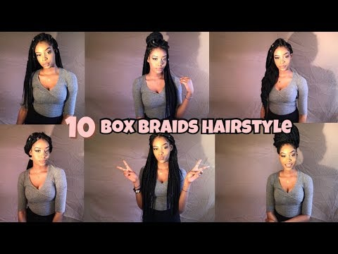 10 BOX BRAIDS HAIRSTYLES 2018