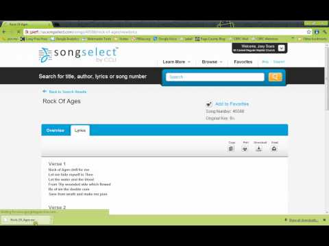 How to Download Songs From SongSelect.com & Import Into OpenLP