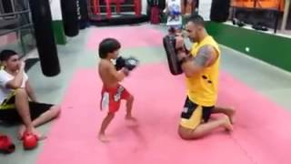 Muay Thai kid trained by Hassan Mansour -