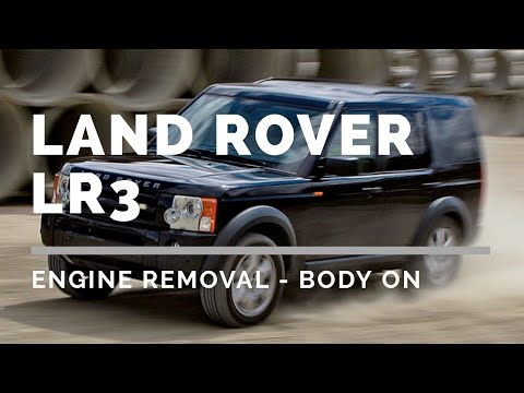Land Rover LR3 4.4 Engine removal body on