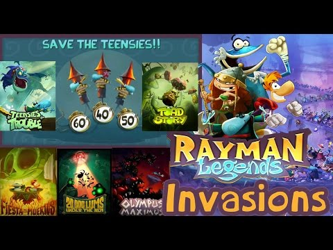 Rayman Legends - All Invasions Under 29 Seconds