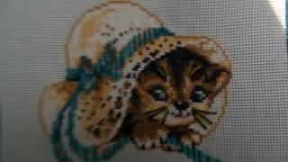 Вышивка крестом: Котёнок