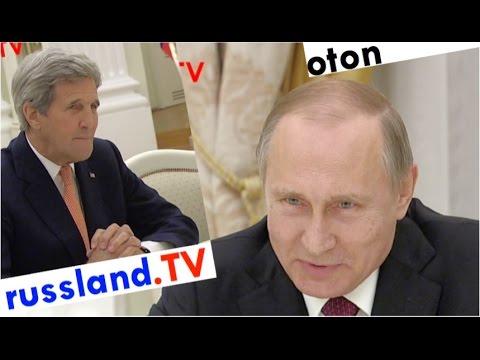 Putin auf deutsch: Scherz über Kerry