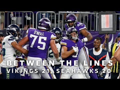 Between The Lines: Minnesota Vikings 21, Seattle Seahawks 20
