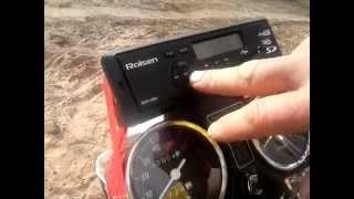 Установка на мопед магнитолы ROLSEN RCR-100G, USB
