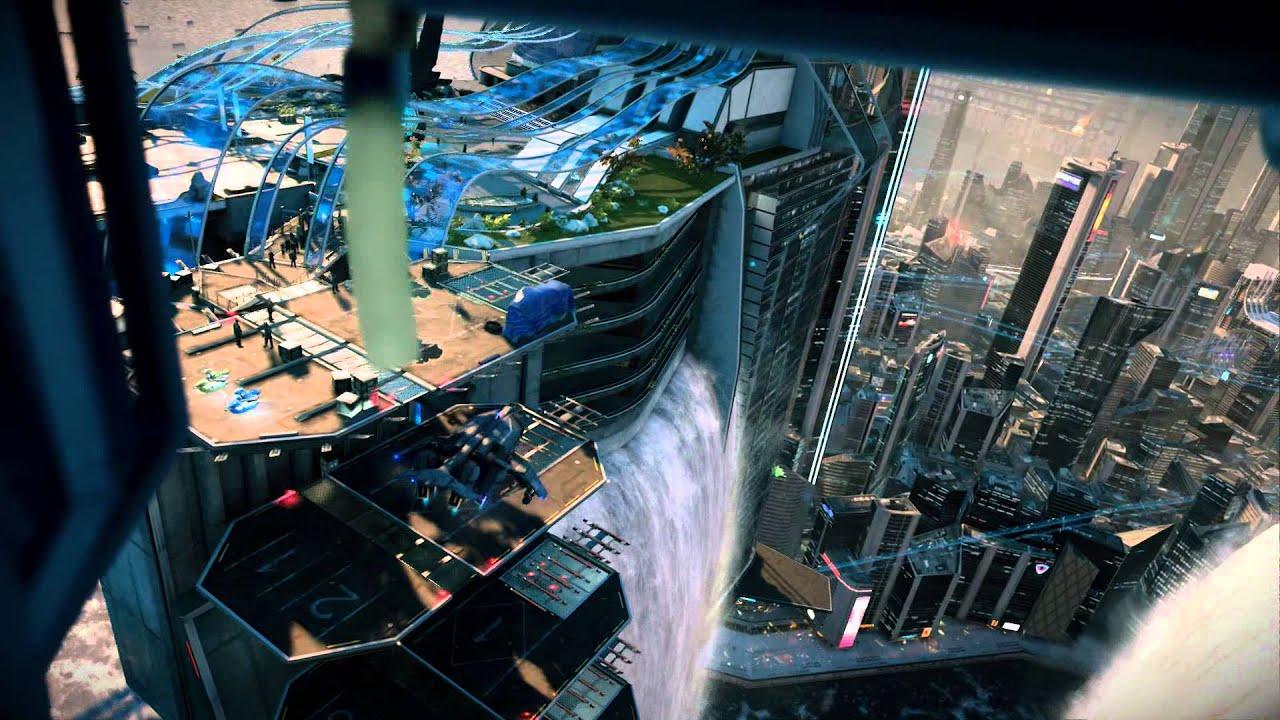Wallpaper Killzone Shadow Fall Killzone Shadow Fall Chap 4 The Patriot Vekta City Fly