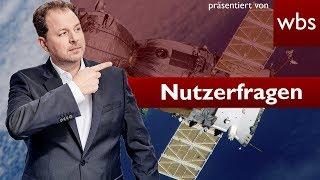 Weltraumschrott zerstört Haus - wer haftet? | Nutzerfragen Rechtsanwalt Christian Solmecke