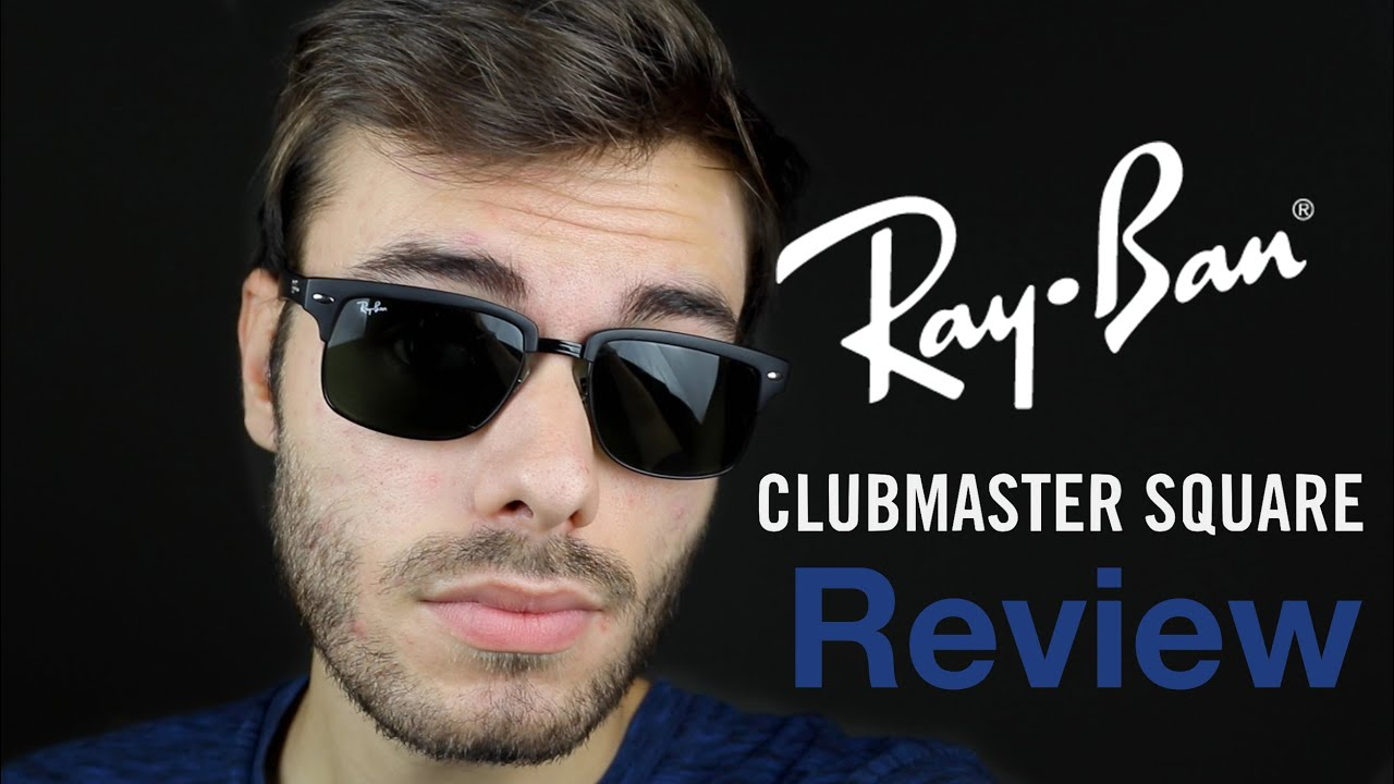 RayBan Clubmaster Square Review YouTube