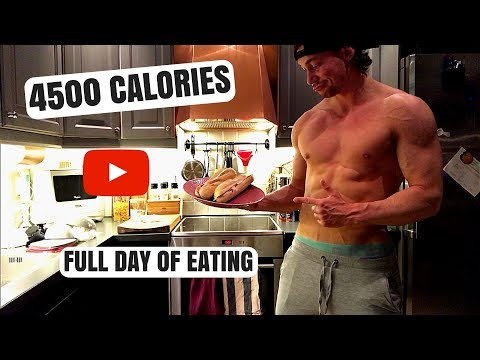 FULL DAY OF EATING AS A HARDGAINER | MY DIET TO GAIN MUSCLE | 4500 CALORIES