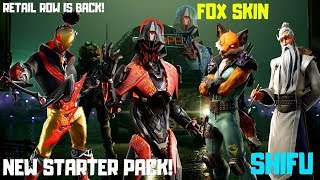 Fortnite-Fox, Shifu, StarWalker, neues Starter Pack! V 10.10!