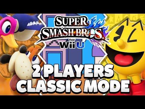 Super Smash Bros. Wii U - Duck Hunt Duo & Pac-Man Classic Mode [1080p HD]