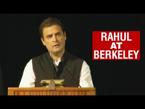 Watch: Rahul Gandhi's Speech at University of Berkeley