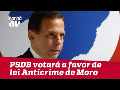 Doria garante que bancada do PSDB votará a favor de lei Anticrime de Moro