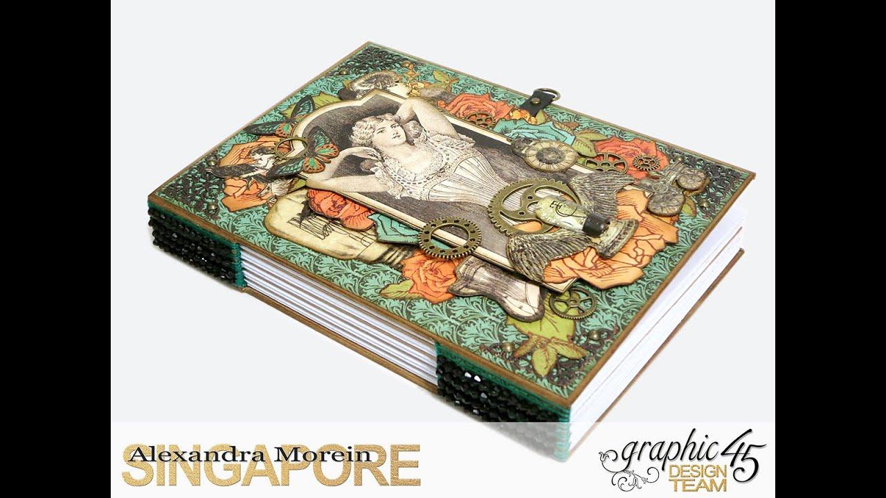 steampunk debutante diy notebook tutorial part 1 youtube