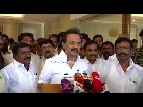 ரஜினி பாஜகவின் குரல் M. K. Stalin குற்றச்சாட்டு   Sterlite Issues   DMK Press Meet