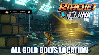 🏆Ratchet & Clank (PS4) Todos os Parafusos de Ouro/All 28 Gold Bolts Locations🏆