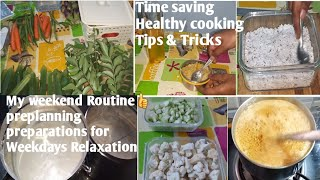 Pre Planning weekend preparations within 2 hours👍Tension free weekdays👍TIME MANAGEMENT TIPS