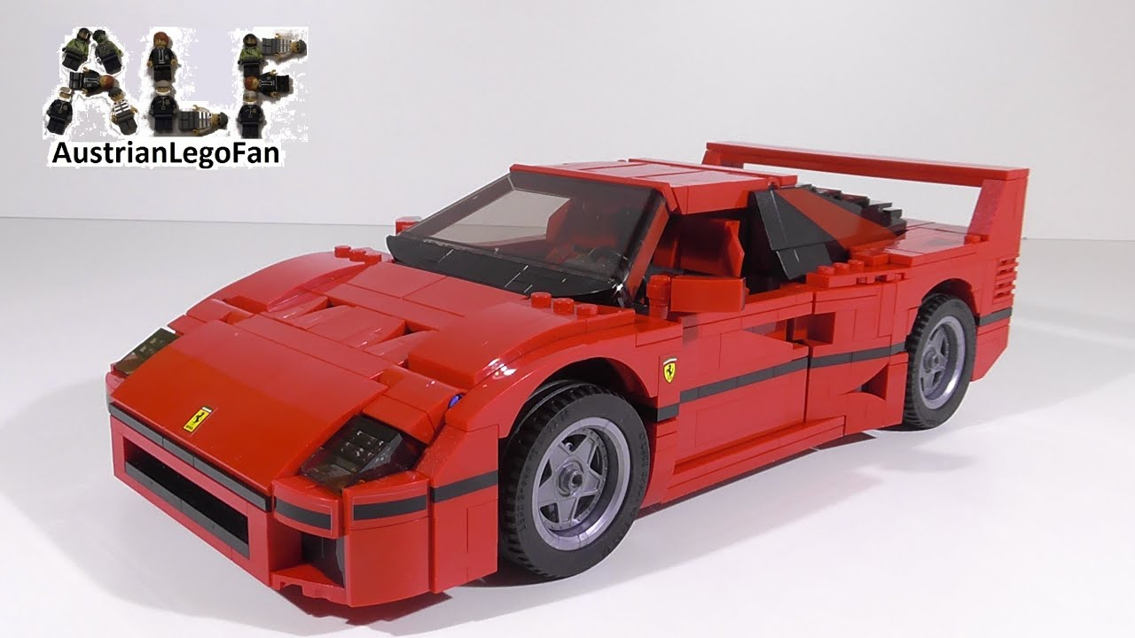 lego creator 10248 ferrari f40 lego speed build review. Black Bedroom Furniture Sets. Home Design Ideas