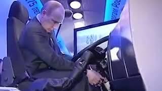 Путин с инструктором учится ездить на камазе