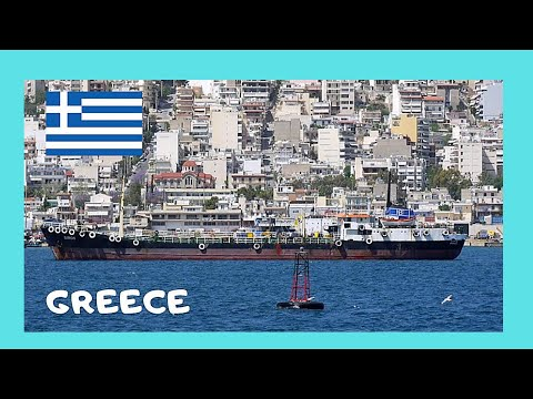GREECE: Views of the ship building town of PERAMA (Πέραμα) from the sea