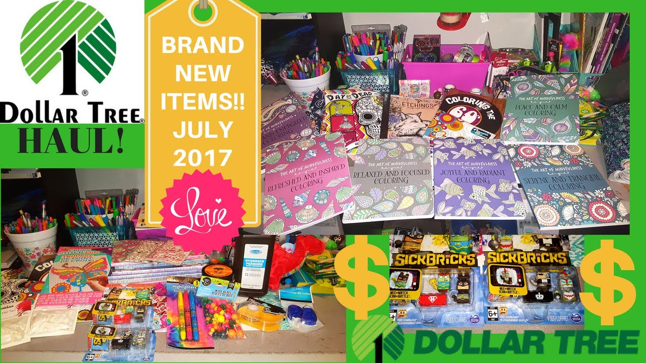 first dollar tree haul of july 2017 new new items coloring books toys nailsand more - Dollar Tree Coloring Books