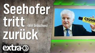 Horst Seehofer will (ein bisschen) zurücktreten