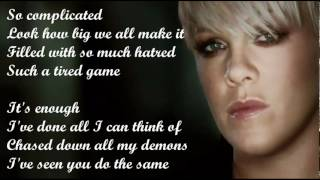 Pink - Fcking Perfect (with lyrics on screen) + Ringtone