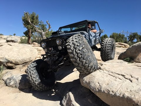 The Badass Black Ops 4x4 Jeep CJ7 at Area BFE in Moab.