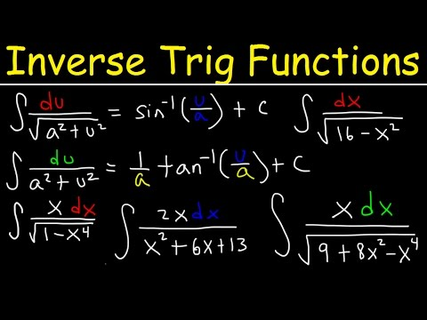 Integration of Inverse trigonometric functions, Integrating By Substitution, Calculus Problems