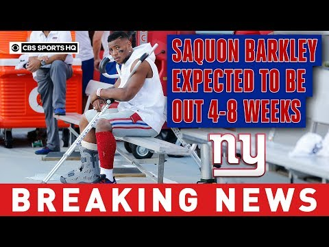 saquon-barkley-is-expected-to-miss-4-8-weeks-after-mri-confirms-high-ankle-sprain-|-cbs-sports-hq