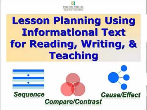 Informational Text \ - lesson planning