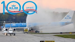 *HAPPY 100th BIRTHDAY 🎁* KLM Airbus A330-200 (A332) landing in Montreal (YUL/ CYUL)