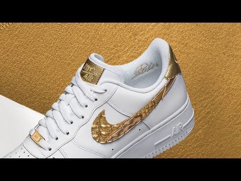 Nike AIR FORCE 1 CR7 Golden Patchwork UNBOXING - YouTube a312f5ecb