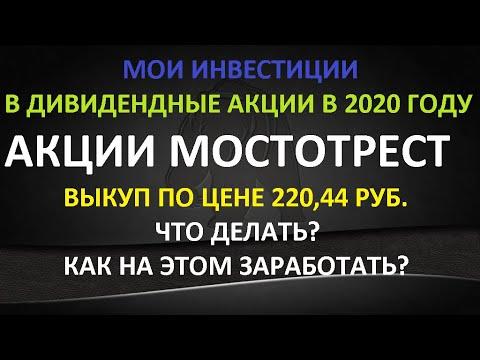 Объявлен выкуп акций Мостотрест по цене 220,44 руб. Выделение АО Дороги и Мосты Как заработать +💯
