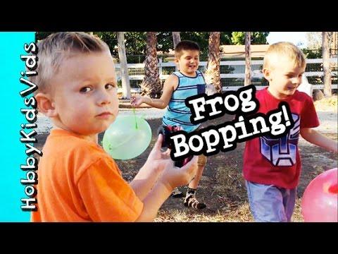 Flying Kung Fu Game Cut Scenes! Frog + Ironman Punching Ball Playing HobbyKidsVids